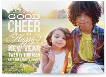 Good Cheer New Year's Photo Cards