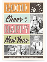 Retro Cheer New Year's Photo Cards