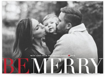 Big and Merry Holiday Photo Cards New Year's Photo Cards