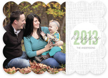 Plaid Dot New Year New Year's Photo Cards
