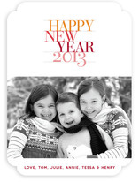 Bold Statement New Year's Photo Cards