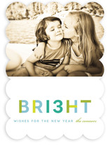 Brilliant Wishes New Year's Photo Cards