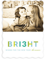 Brilliant Wishes New Year&#039;s Photo Cards