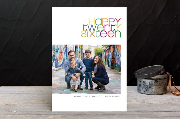"""Twenty-Fifteen"" - Modern, Minimalist New Year Photo Cards in Bright by Kaydi Bishop."