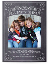 Chalkboard New Year's Photo Cards
