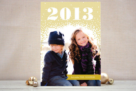 Glittering 2013 New Year's Photo Cards