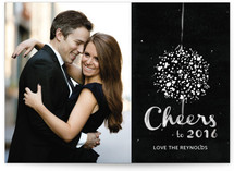 Elegant Ball Drop New Year&#039;s Photo Cards