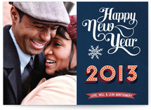 Typographic New Year New Year&#039;s Photo Cards