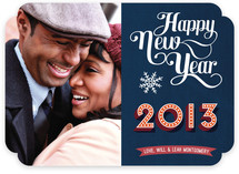 Typographic New Year New Year's Photo Cards