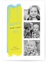 Paint Strokes New Year's Photo Cards