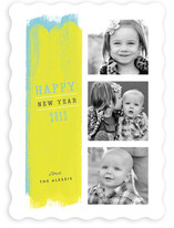 Paint Strokes New Year&#039;s Photo Cards