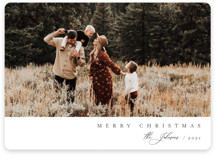 Family Type New Year's Photo Cards