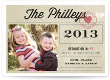 The Resolution New Year's Photo Cards
