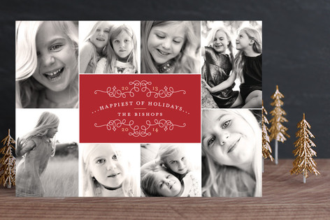 classic collage new year photo cards