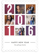 Color Blocks New Year&#039;s Photo Cards