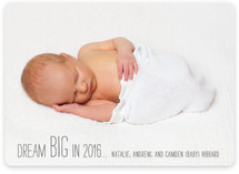 Dream BIG New Year's Photo Cards