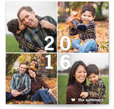 New Year Tiles New Year's Photo Cards