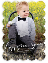 Sparkler New Year&#039;s Photo Cards