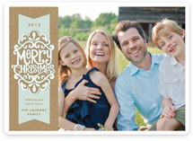 Kraft Ribbon New Year&#039;s Photo Cards