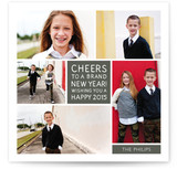 Family Framed New Year&#039;s Photo Cards