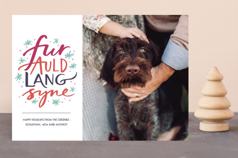 Fur Auld Lang Syne New Year Photo Cards