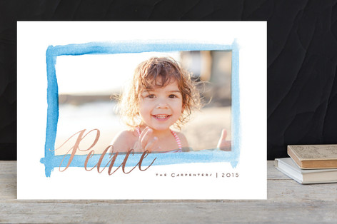 Watercolor Window New Year Photo Cards