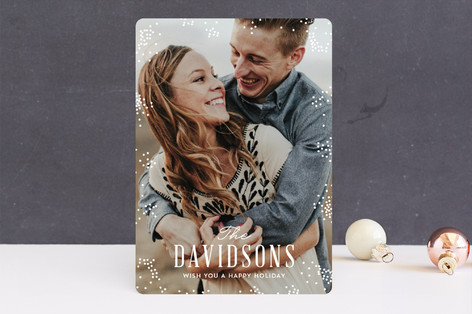 Speckled New Year Photo Cards