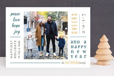 Newsprint New Year Photo Cards
