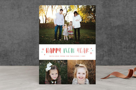 Sorbet New Year Photo Cards