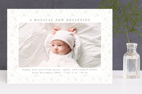 Magical Beginning New Year Photo Cards