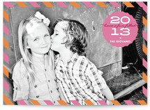 Bubblegum Fun New Year's Photo Cards