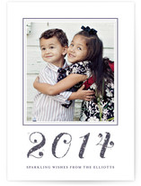 Glittering New Year&#039;s Photo Cards