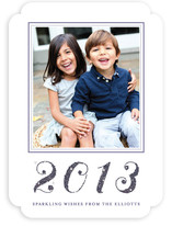 Glittering New Year's Photo Cards