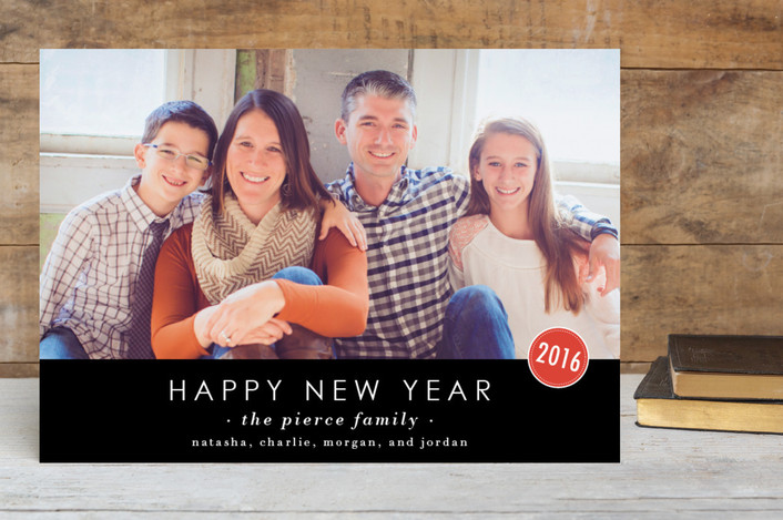 """""""The Basics"""" - Simple, Modern New Year Photo Cards in Charcoal by Design Lotus."""