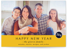 The Basics New Year's Photo Cards