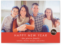 The Basics New Year&#039;s Photo Cards