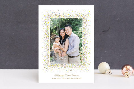 Confetti pop New Year Photo Cards