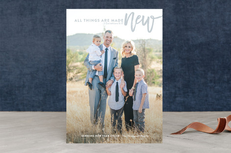 all things are made new New Year Photo Cards