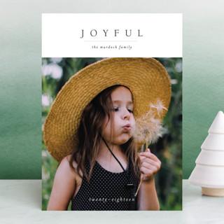 Minimal Joy New Year Photo Cards