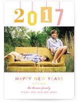 New Year Gift Tag New Year&#039;s Photo Cards