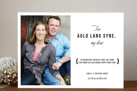 Auld Lang Syne New Year's Photo Cards