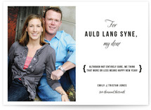 Auld Lang Syne New Year&#039;s Photo Cards