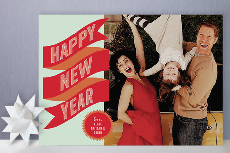 Banner + Burst New Year's Photo Cards