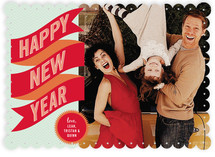 Banner + Burst New Year&#039;s Photo Cards