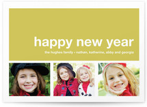 Modern Joy New Year's Photo Cards