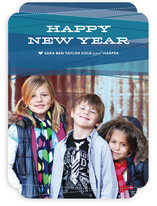 Ribbons New Year's Photo Cards