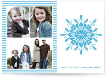 Nordic Snowflake New Year&#039;s Photo Cards