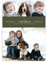 Modern Family Crest New Year's Photo Cards
