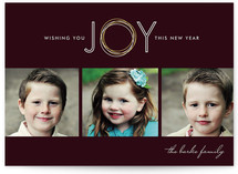 Rings of Joy New Year&#039;s Photo Cards