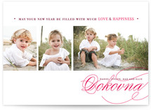 Love & Happiness New Year's Photo Cards